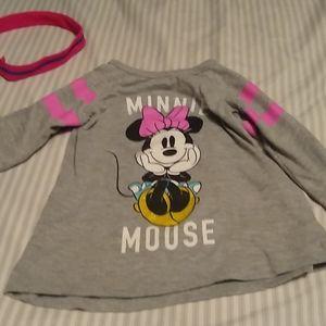 Disney Minnie mouse girls 3t long sleeved shirt